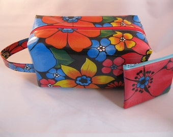 Floral Oilcloth Toiletry Bag vs Lunchbox