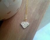 Free shipping. Diamond. Necklace.
