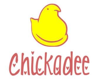 Chickadee Chick Easter Peep SVG File