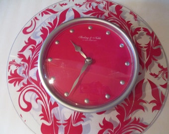 STERLING NOBLE DAMASK Wall Clock