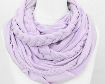 Zopfloop lilac / / Zopfschal / / braided scarf
