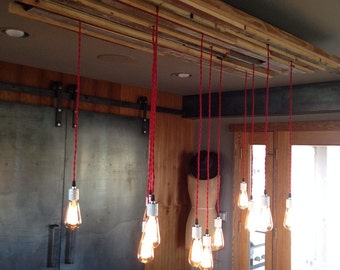 Industrial Lighting Hanging Edison Bulb Chandelier