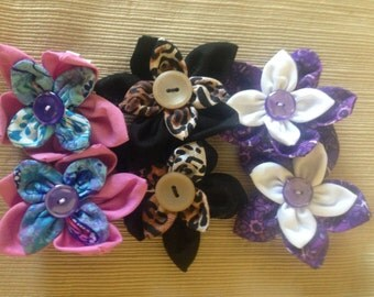 Mini Flower Hair Clips - Set of 2
