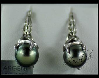Earrings pearls of Tahiti