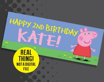 Peppa Pig Banner - Peppa Pig Birthday Party Decor