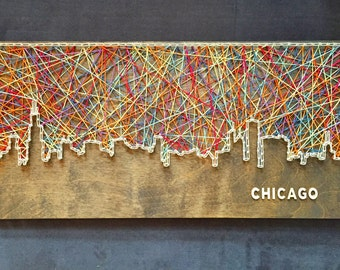 Custom Chicago Skyline String Art
