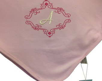 100% Organic Cotton Hooded Baby Blanket Embroidery Personalised, Personalized