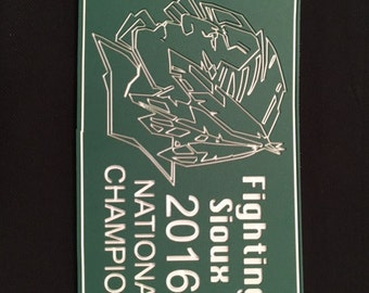 Fighting Sioux 2016 National Championship State Plaque