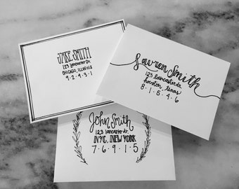 Custom Hand Lettered Envelopes