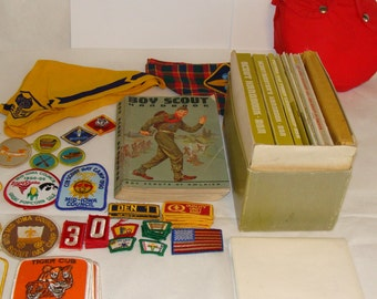 Vintage Boy Scout Items Manuals, Literature, Patches, Canteen, First Aid Kit