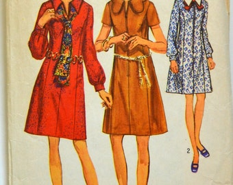 1970s Simplicity Vintage Sewing Pattern 8936, Size 14.4
