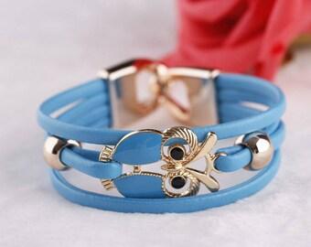 Owl Leather Bracelets