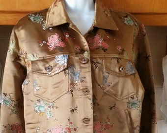 Floral Silk jacket