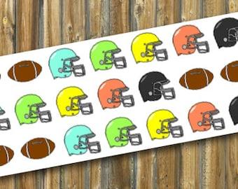 Football & Helmets Planner Stickers