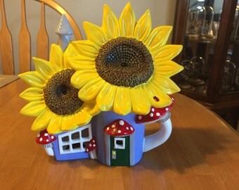 Fairy Garden Sunflower House
