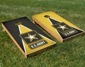 Army Cornhole Board Set with Bean Bags
