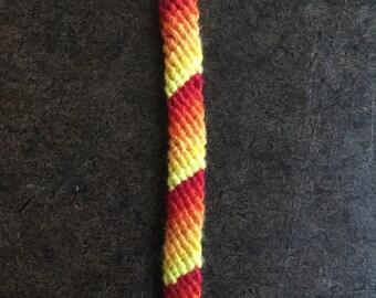 Sunset Ombré Candy Stripe Friendship Bracelet