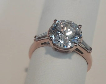 3.50 Ctw Round Cut Solitaire Engagement Wedding Ring 14K Rose Gold +FREE GIFT