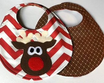 Baby first holiday bibs Gift Set Christmas Thanksgiving Valentines Halloween bib baby gift hand crafted applique all natural cotton bib