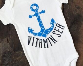 Nautical-Anchor Onesie-Custom Onesie-Monogrammed Onsie-Custom bodysuit-Baby boy onesie-Baby shower gift-Newborn gift-Funny Onesie