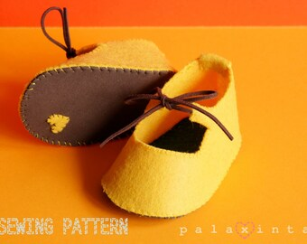 MANGO Felt Baby Shoe Pattern