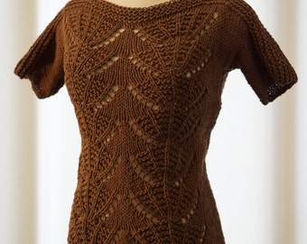Chocolate Brown Knitted Top