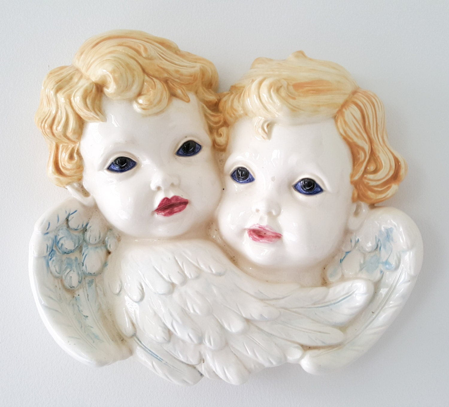 New Price Beautiful Hand Painted Ceramic Bisque Cherub