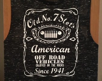 Ladies Jeep muscle Tee