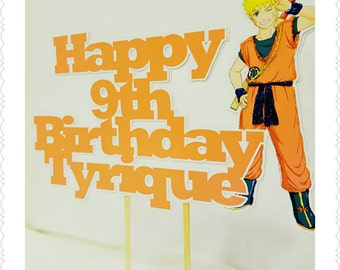Naruto--Inexpensive Personalized Cake Toppers with Name & Character--Kid's Birthday Party Decorations