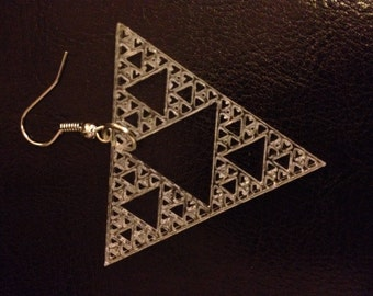 Math earrings - Sierpinski Triangle