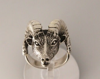 goat Ring, Sterling Silver Ring, Silver ring, Mens Ring, Handmade Ring, Goat Jewellery, Animals Ring