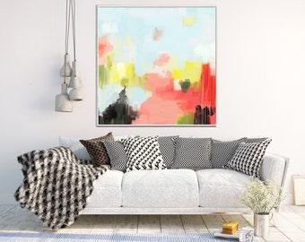 Colorful Abstract Print,  Abstract Art Print, Modern Art, Giclee Print, Canvas Print, Contemporary Art, Abstract Wall Art, Wall decor