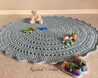Crochet Doily Rug TShirt Yarn 110cm