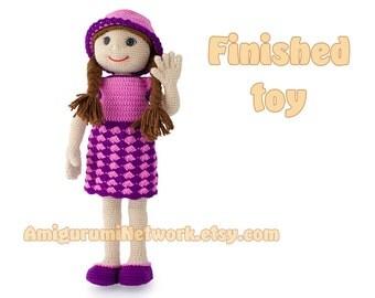 Crochet toy - amigurumi doll Anastasia.