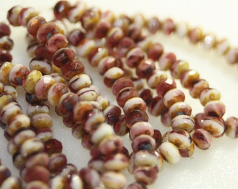 Czech Glass 3x5 Rondell 30 Beads