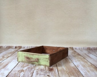 Double sided vintage drawer photo prop