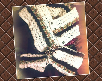 Crochet hat, cowl, fingerless gloves