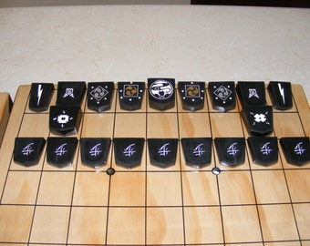 Shogi (Japanese Chess)- International playing pieces. *Board NOT included*