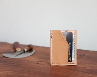 Leather Slim Card Wallet, Handcrafted Mens Wallet, Leather Card Holder, Business Card Holder