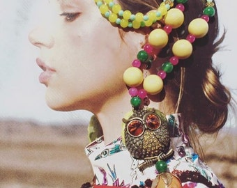 Owl colorful necklace