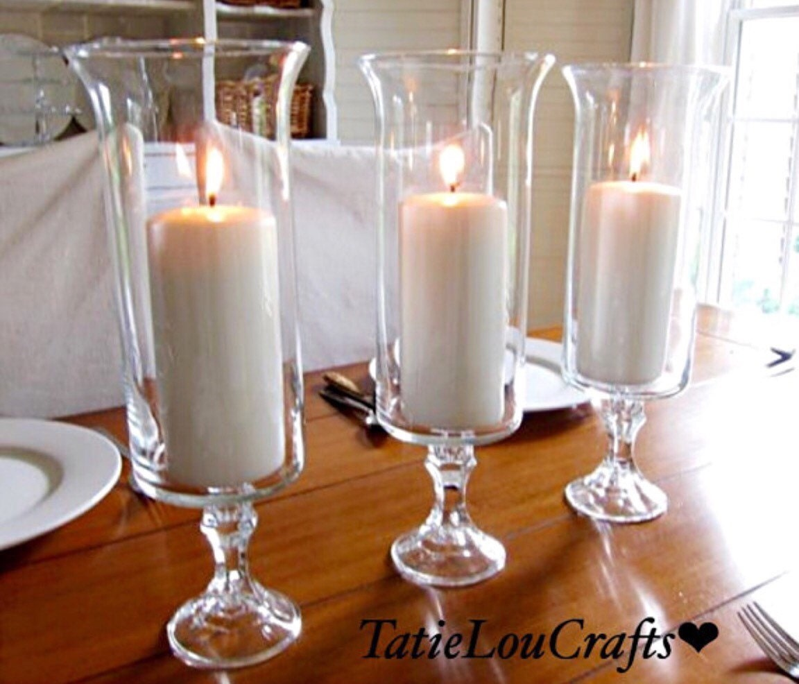 Set of 3 13 tall candle holderswedding centerpieces for Tall candle centerpieces