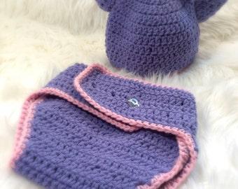 Giraffe Baby Hat, Purple Diaper Cover, Giraffe Diaper Cover, Giraffe Baby Bloomer, Giraffe Photo Prop