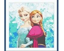 SALE half price cross stitch pattern Frozen ,Instant download PDF Pattern