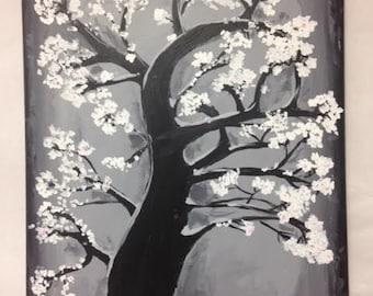 White Blossoms Canvas