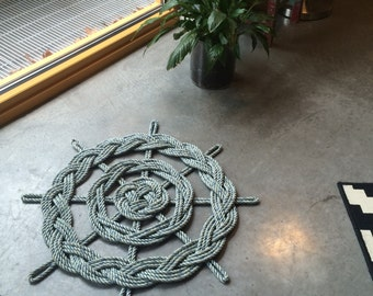 Ships Wheel   door mat or wall hanging.