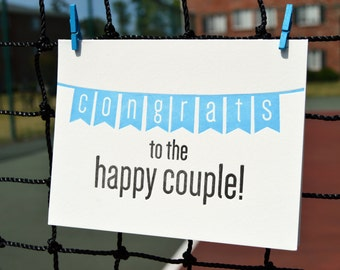 Congrats to the Happy Couple (Boy) - Letterpress card