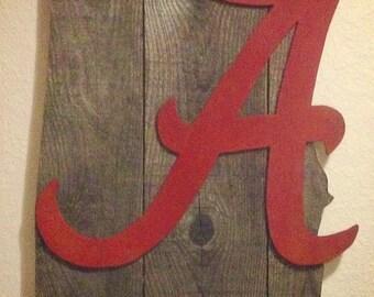 Alabama Crimson Tide, Roll Tide, Wood Art, Wall Decor