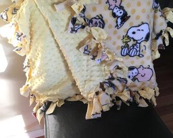 Charlie Brown Tie Knot Blanket