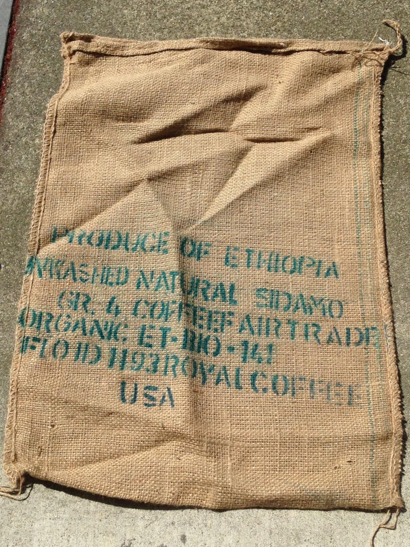 oromia coffee bean burlap sack ethiopia coffee lover gift home 6 00 shipping