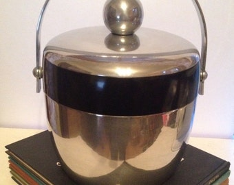 Vintage Kromex Chrome Ice Bucket mid century modern drink barware